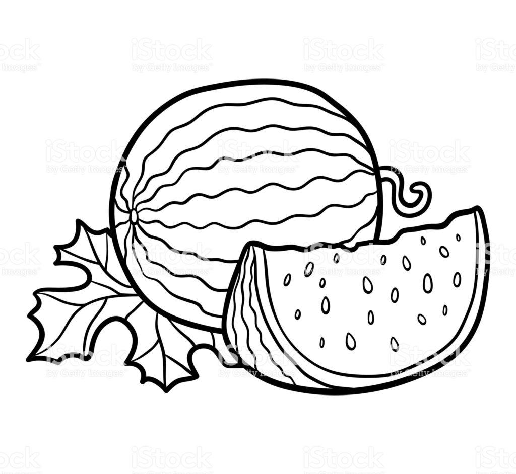 melancia para colorir redonda