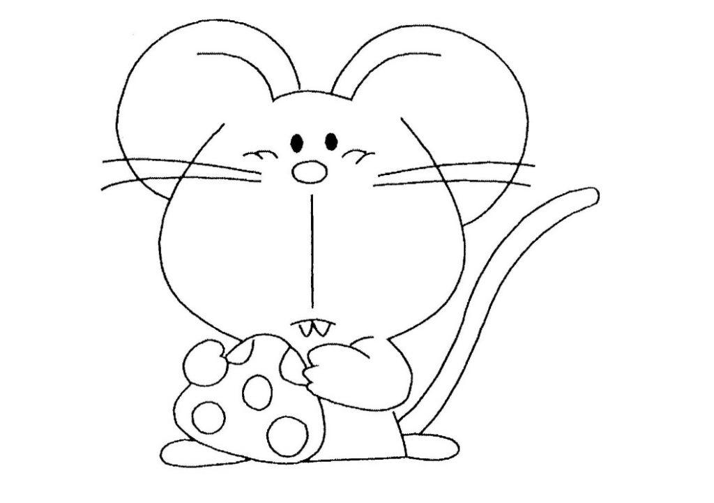 rato para colorir belo