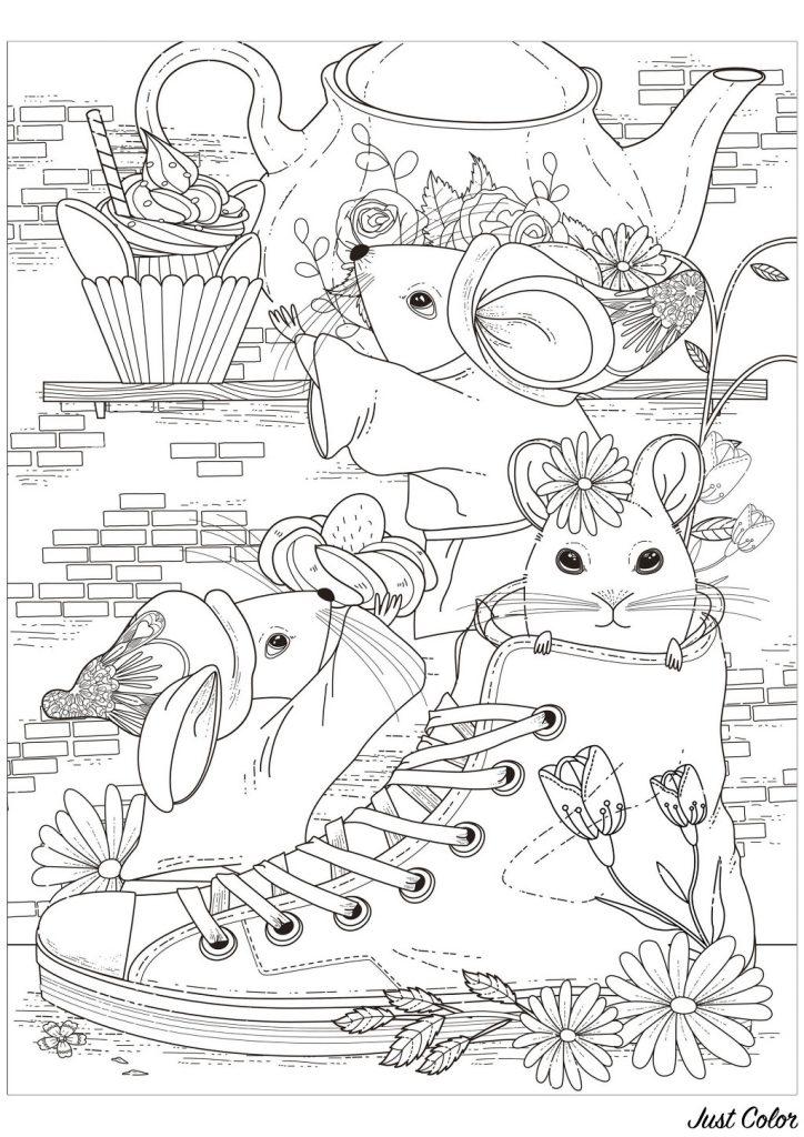 rato para colorir rata