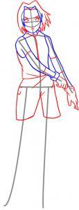 como desenhar a sakura cabelo roupa