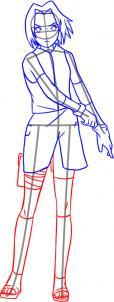 como desenhar a sakura perna