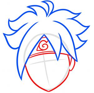 como desenhar o boruto cabeça bandana