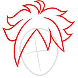 como desenhar o boruto cabeça cabelo