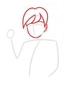 como desenhar o boruto corpo rosto