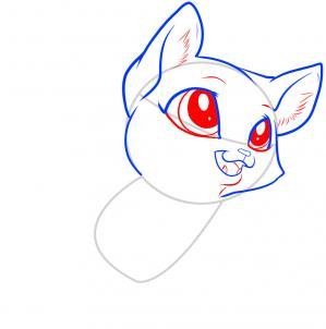 como desenhar um gatinho expressão olhos