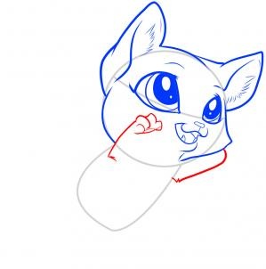 como desenhar um gatinho garras