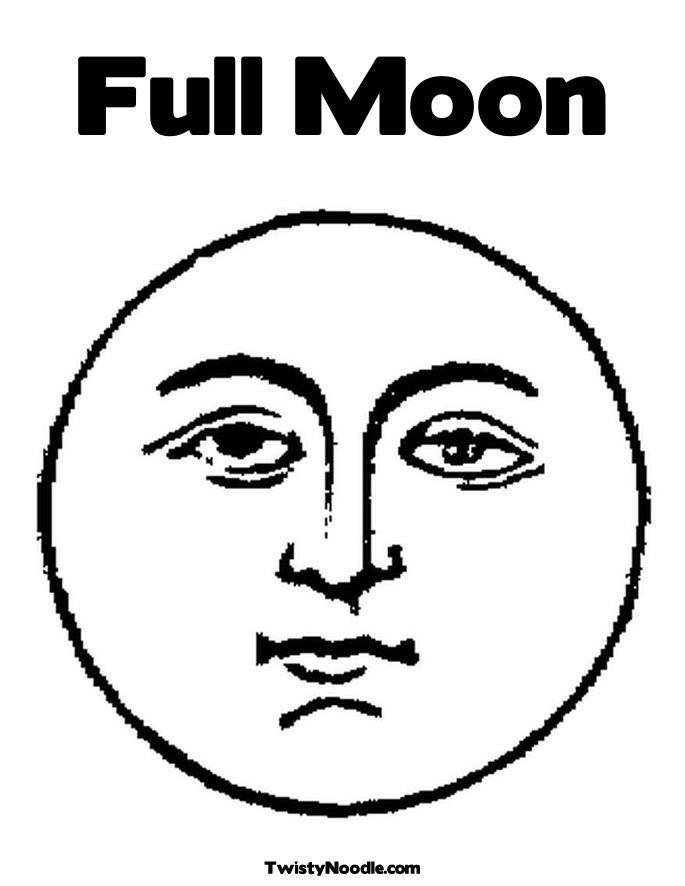 lua para colorir cara