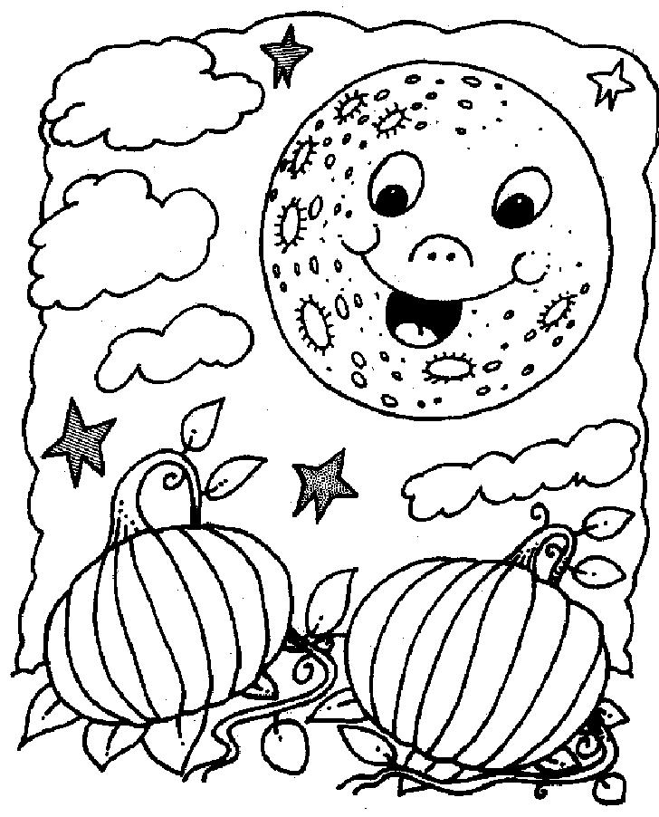 lua para colorir noite