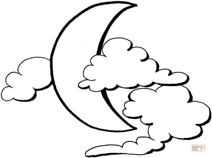lua para colorir nuvens