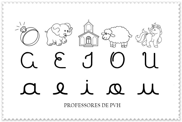 vogais para colorir alfabeto