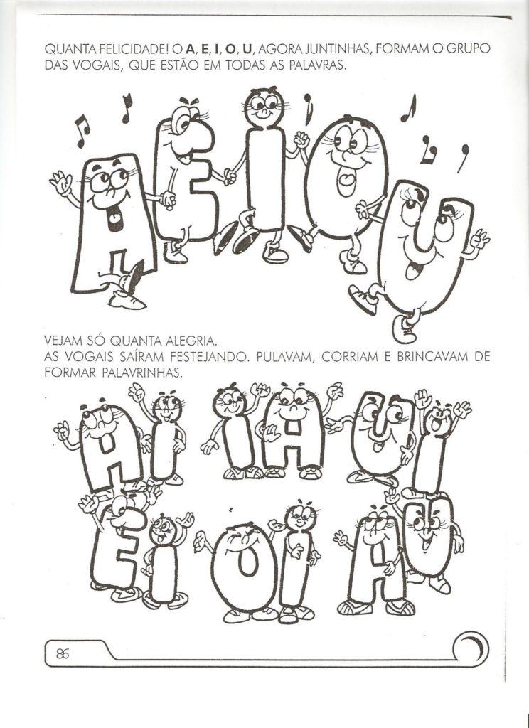 vogais para colorir atividade
