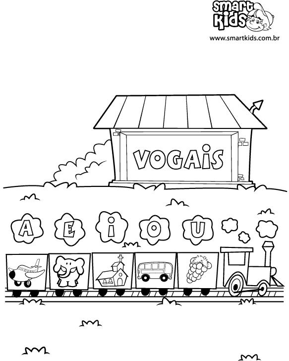 vogais para colorir letras