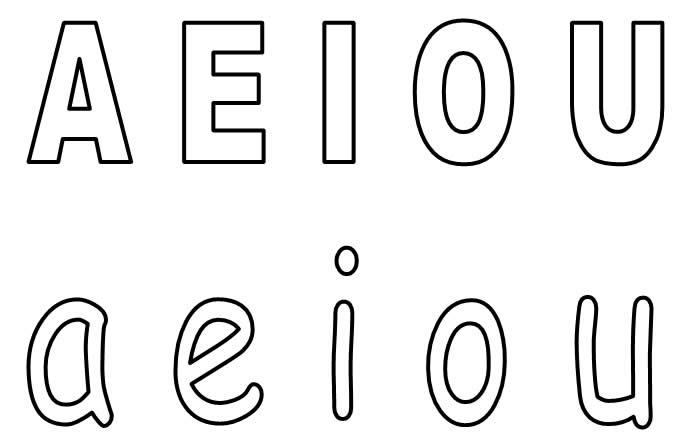 vogais para colorir maiusculas minusculas
