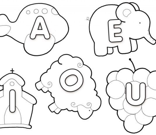 vogais para colorir pintar