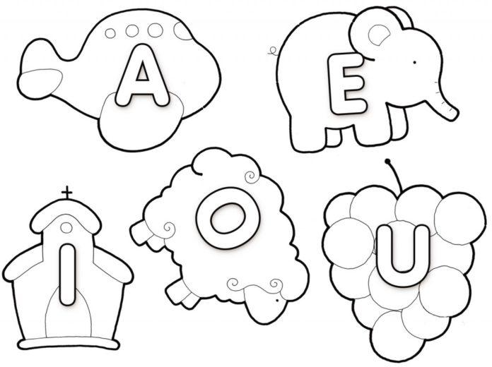 Vogais Para Colorir E Imprimir Muito Facil Aprender A Desenhar