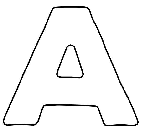 vogal a para colorir letra alfabeto