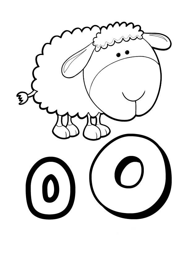 vogal o para colorir ovelha