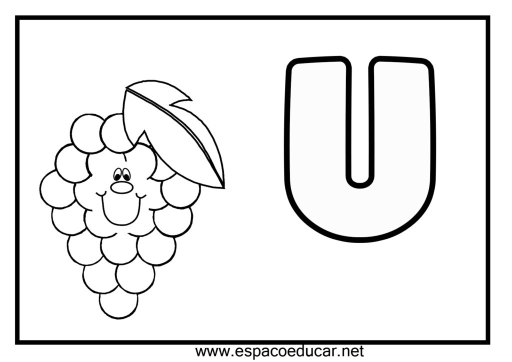 vogal u para colorir uva
