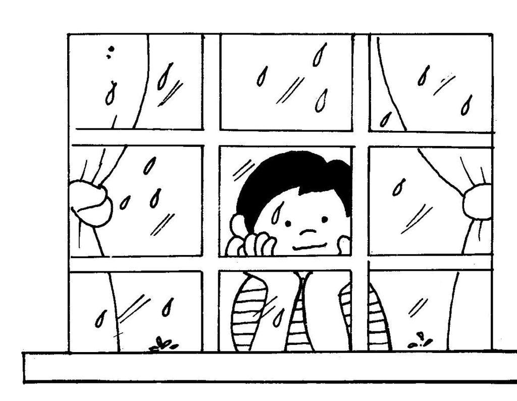 janela para colorir chuva