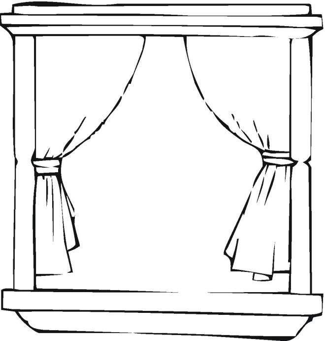 janela para colorir cortina