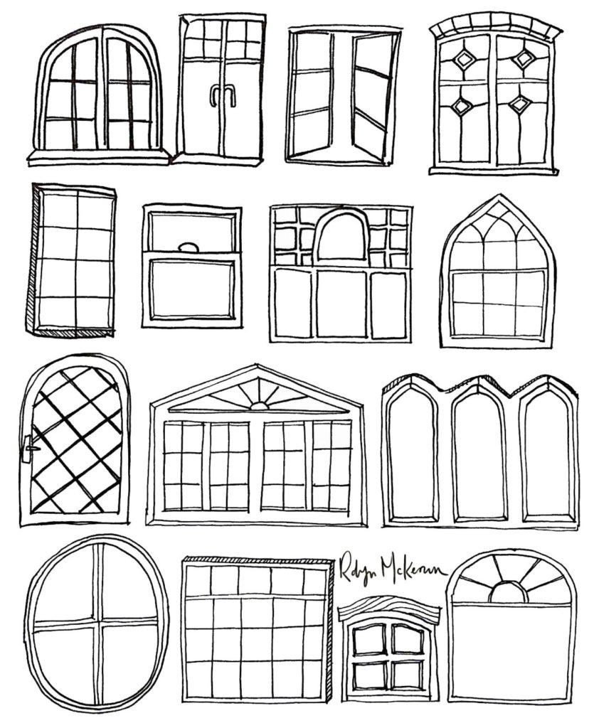 janela para colorir janelas