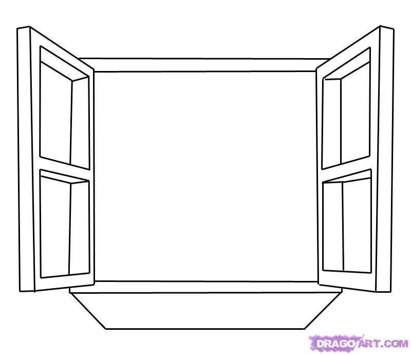 janela para colorir simples