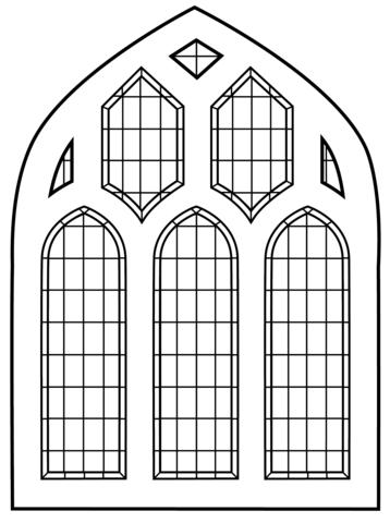 janela para colorir vitral bonito