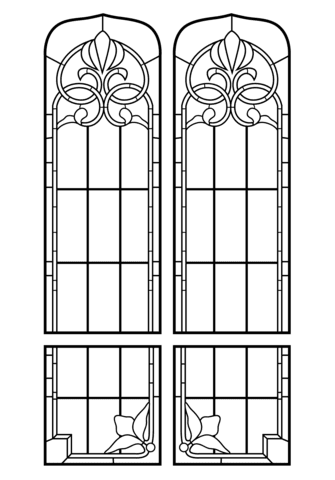 janela para colorir vitral