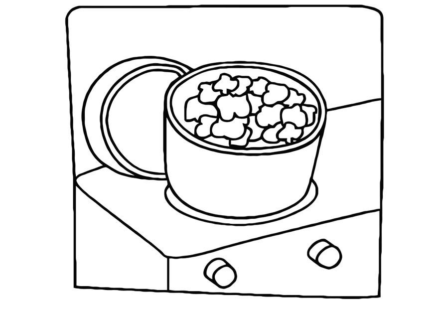 panela para colorir comida