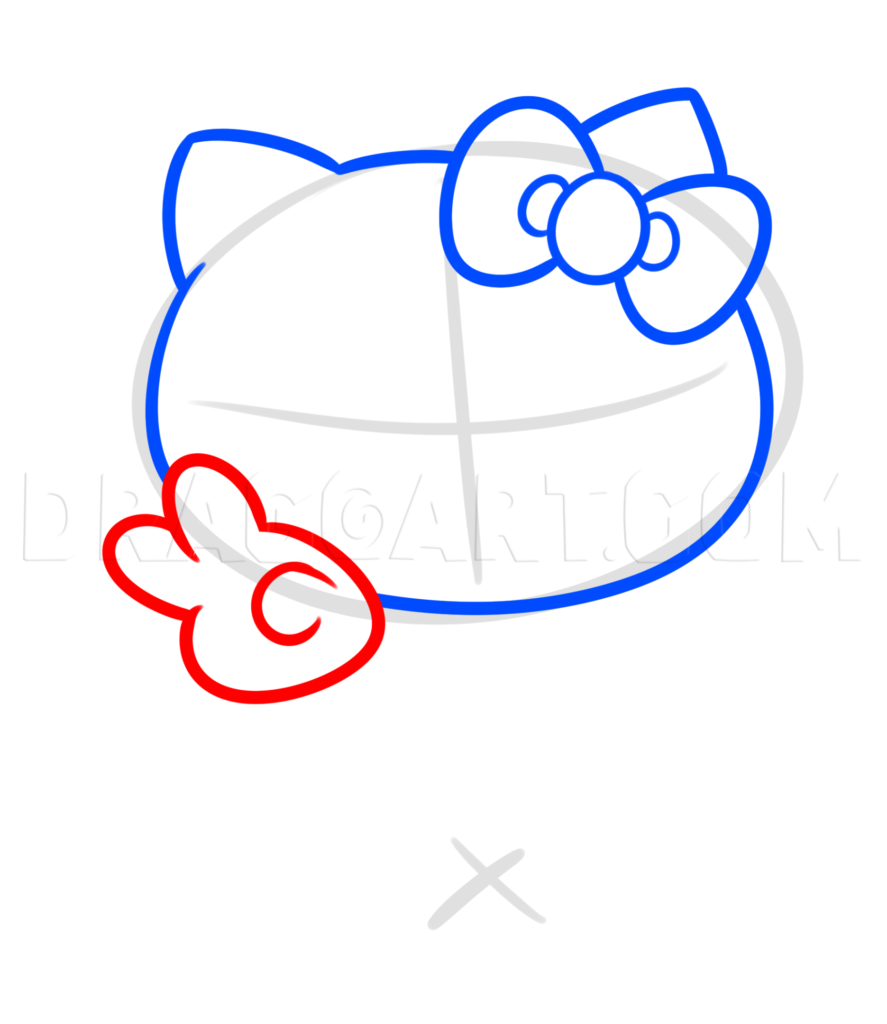 como desenhar hello kitty