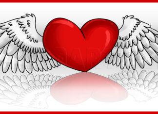 Como Desenhar Coração com Asas