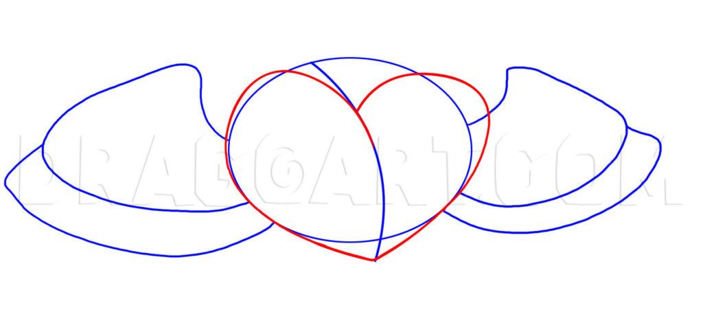 Como Desenhar Coração com Asas passo