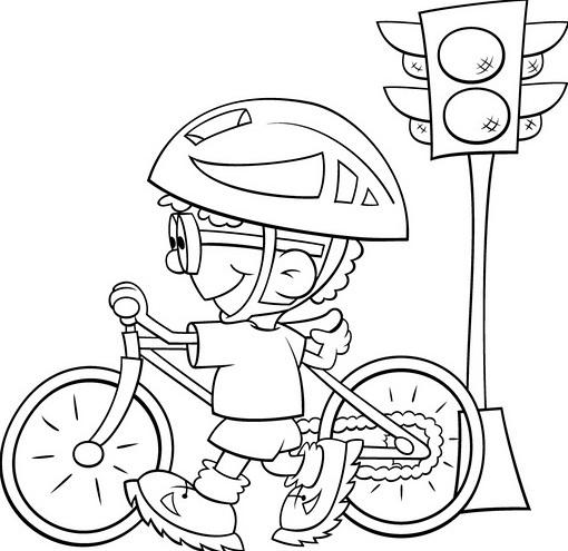 aprender sinais transito semaforo colorir