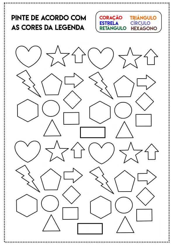 atividade geometrica pintar