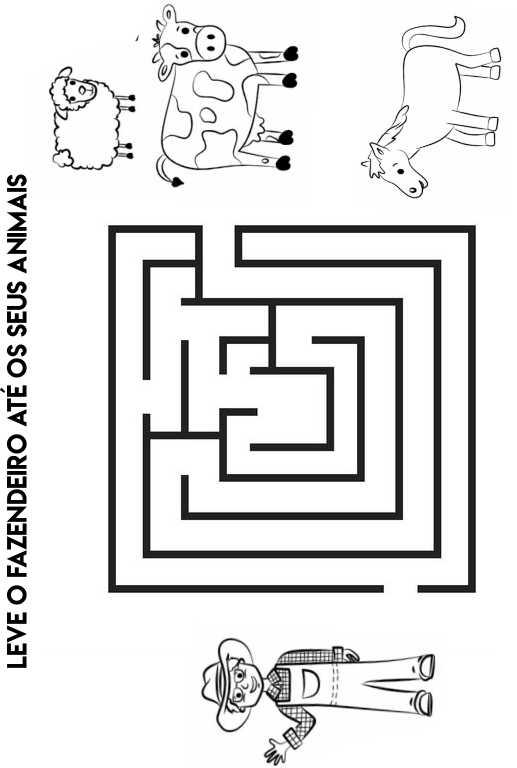 atividades educativas labirinto