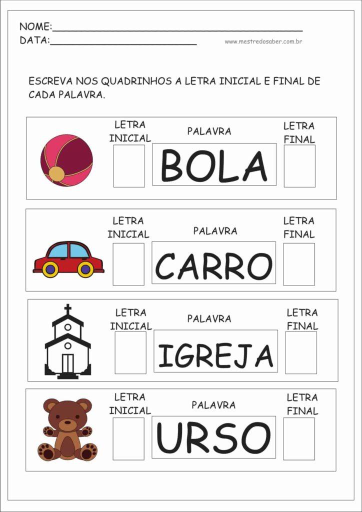 atividades para crianças português bola