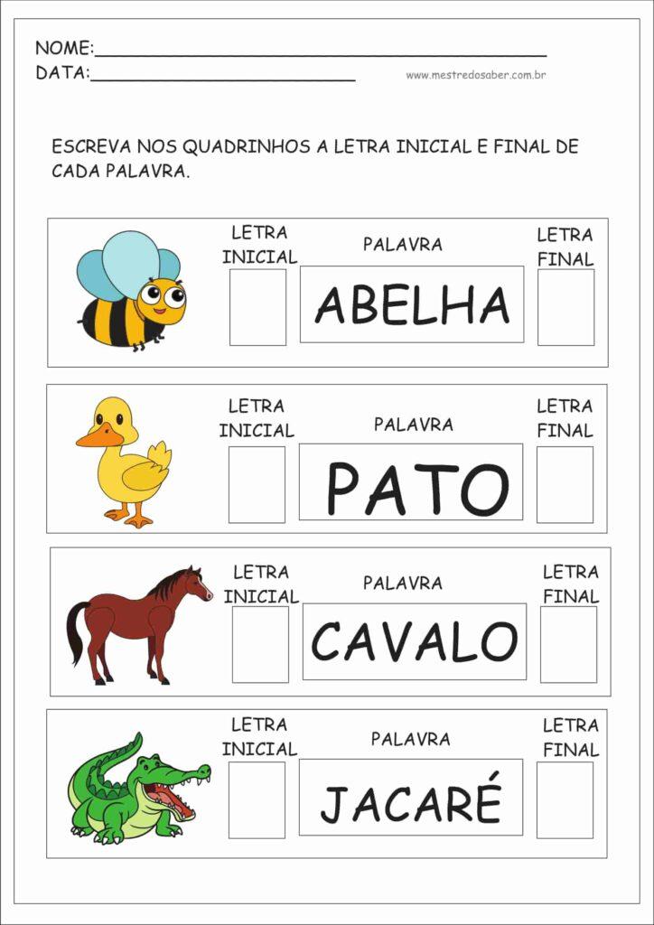atividades para crianças português pato