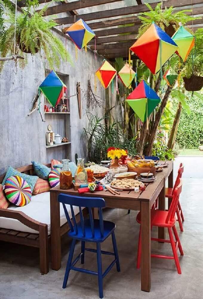 balão de festa junina almoço
