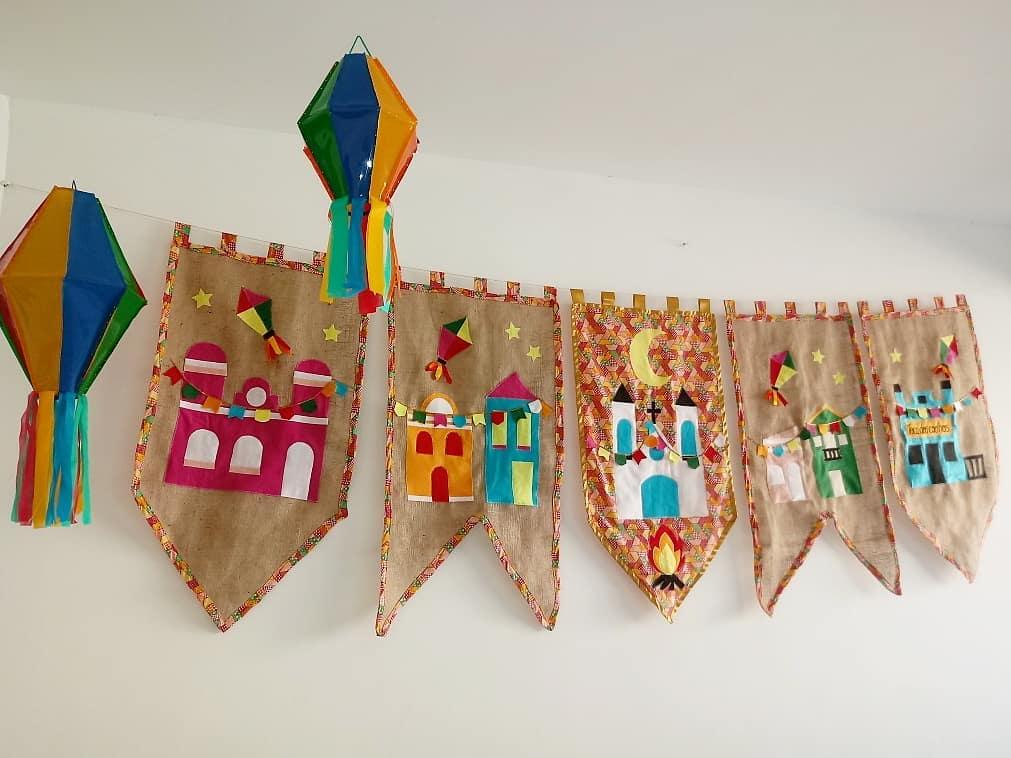 balão de festa junina bandeiras