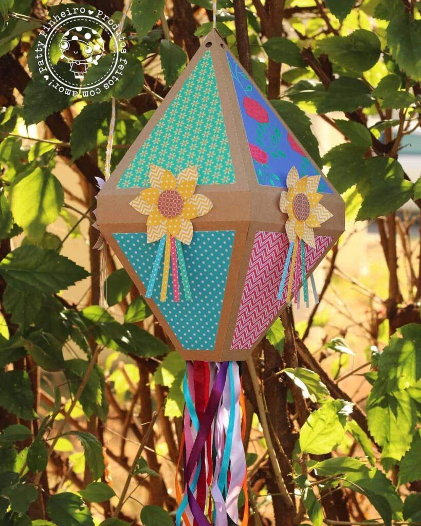 balão de festa junina papel e flor
