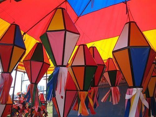 balão de festa junina vários