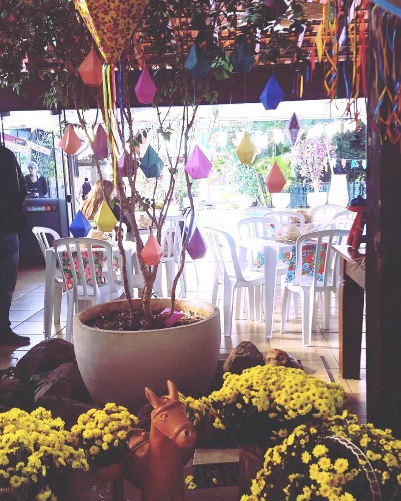 balão de festa junina vaso planta