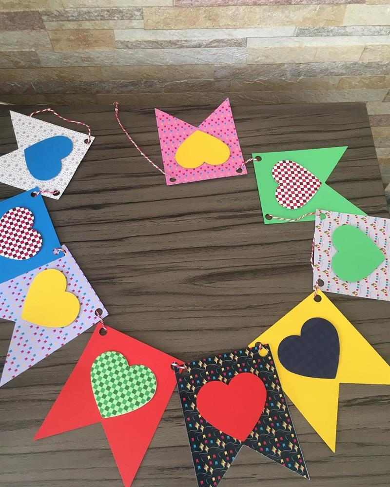 bandeirinhas para festa junina cartolina