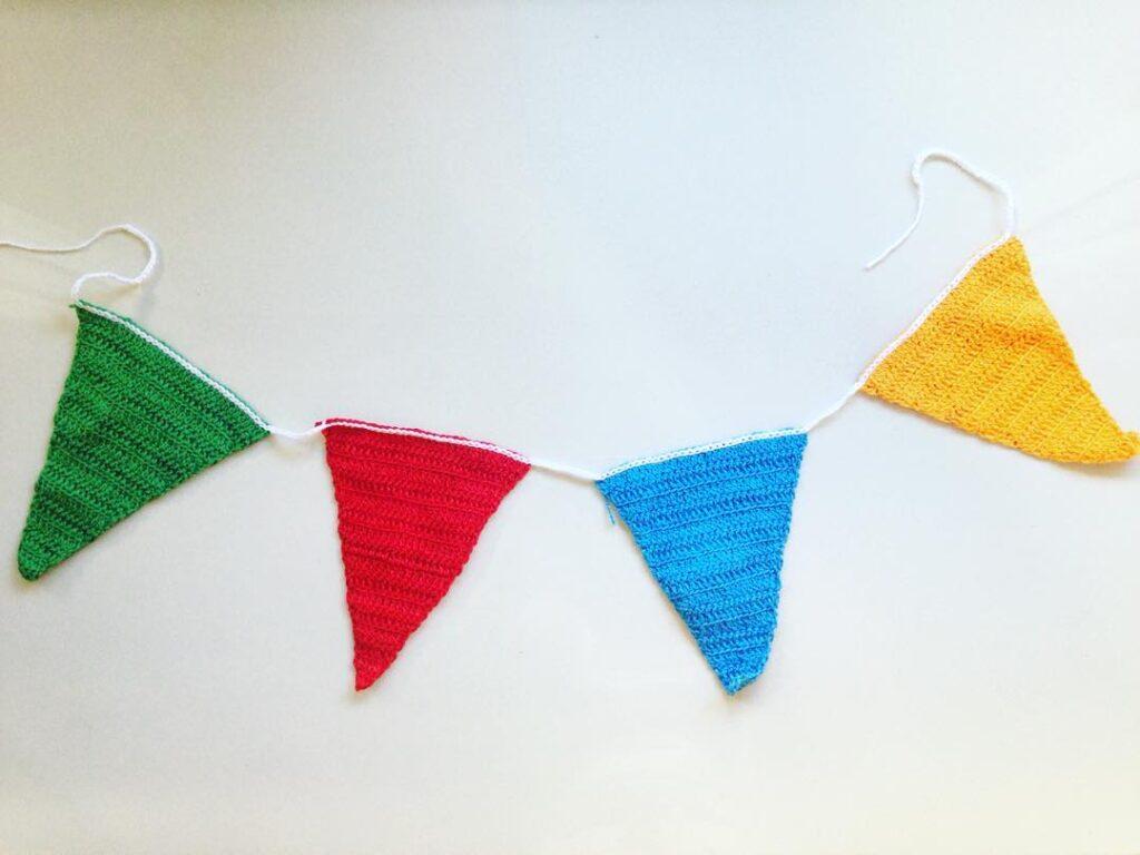 bandeirinhas para festa junina crochê