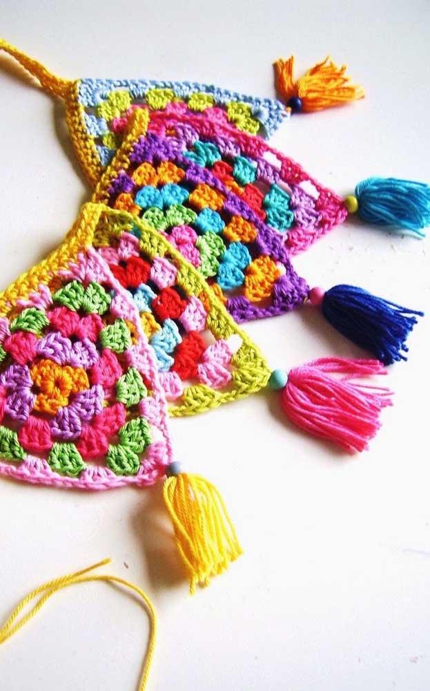 bandeirinhas para festa junina crochê modelo