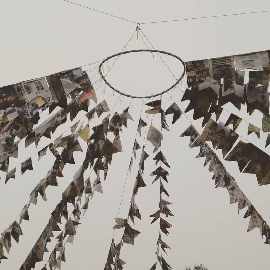 bandeirinhas para festa junina jornal