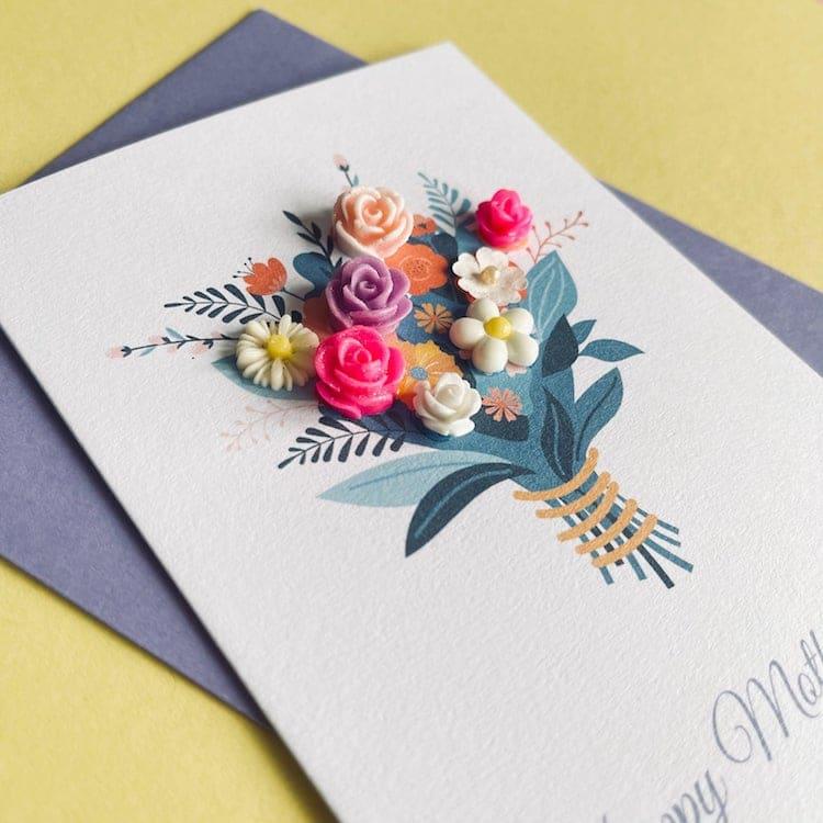 card mães flores