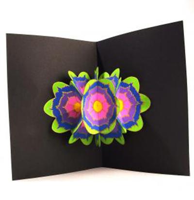 cartão de flor colorido