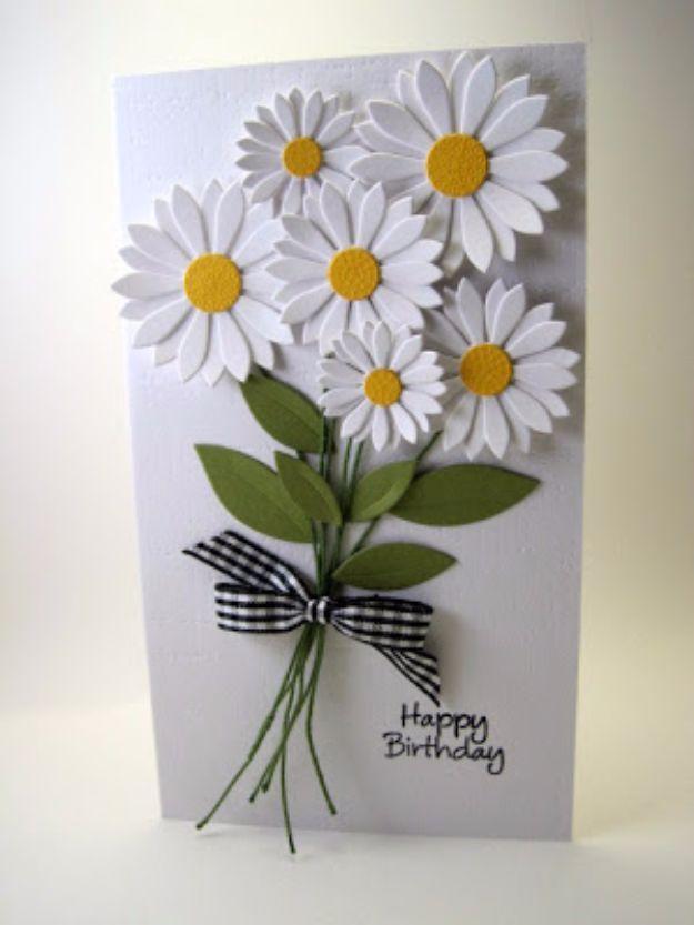 cartão de flor de aniversário