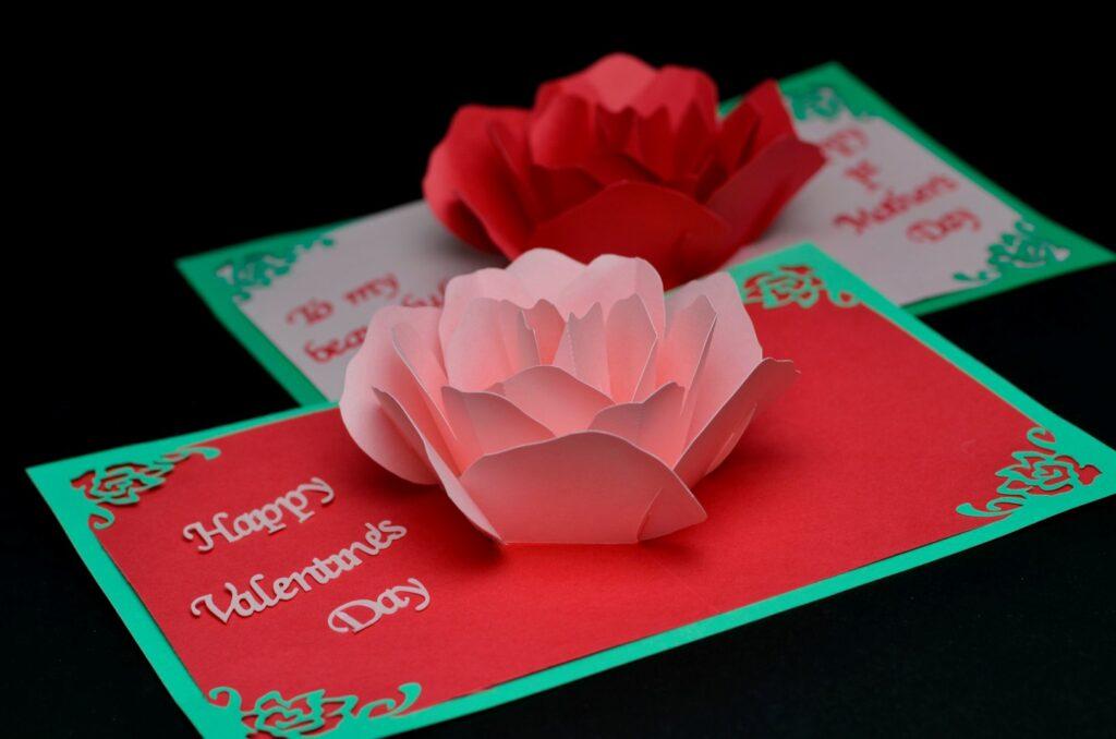 cartão de flores para namorada